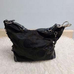 Coach canvas signature hobo bag